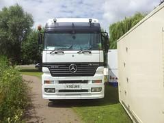V310 JKE (quicksilver coaches) Tags: mercedes actros holmes v310jke funfair fairground showmans bedford