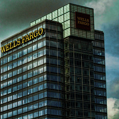 Wells Fargo (raymondclarkeimages) Tags: rci raymondclarkeimages 8one8studios usa building structure windows 70200mm canon highrise skyscraper architecture 7d sky wellsfargo bank business offices officebuilding lines