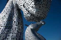 The Kelpies 2 (e-box 65) Tags: grangemouth schottland grosbritannienundnordirland gb uk united kingdom scotland kelpies horses sculpture skulptur helix