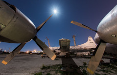 Outstretched Arms (dejavue.us) Tags: longexposure nightphotography airplane nikon desert tucson aircraft fullmoon fisheye nikkor boneyard d800 105mmf28 vle