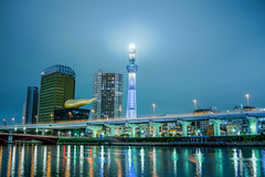DSC01719-HDR (Zengame) Tags: cloud tower japan architecture night zeiss tokyo cloudy sony illumination landmark illuminated cc creativecommons   rx iki       skytree rx1 komagatabashi    tokyoskytree  rx1r rx1rm2 rx1rmark2