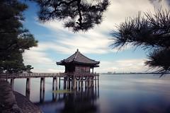 Ukimido ( Ogawasan) Tags: japan japon  ukimido biwako lake longexposure floatingtemple kannon pine blue color