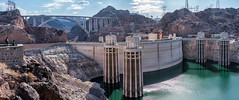 Hoover Dam (julchan) Tags: lasvegas nevada hooverdam turbines reservoir bridge arizona architecture lakemead