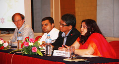 Speakers L-R Keith West, Bishnu Dulal, Devendra Gauchan, and Moderator Shibani Ghosh by