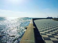perspective! (francesca giordano 3) Tags: sea sky mare horizon perspective cielo tuscany toscana livorno tourguide prospettiva orizzonte leghorn terrazzamascagni guidaturistica chesspavement