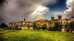 Firenze lights. (Jean McLane) Tags: italy green water river florence italia firenze italie