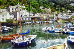 Polperro Harbour (anshanjohn) Tags: walking cornwall polperro summer2012