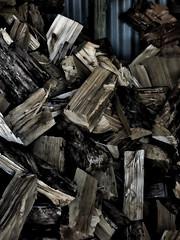 iWood, You Wouldn't (Steve Taylor (Photography)) Tags: art digital blue brown lowkey dark wood firewood iwood timber iron newzealand nz southisland canterbury bankspeninsula corrugated littleriver pile