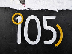 105 (duncan) Tags: 105 number shoreditch