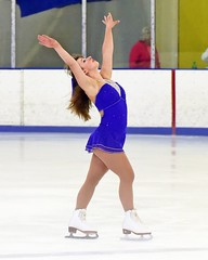 Royal blue beauty on skates (R.A. Killmer) Tags: skill smile speed skate fast graceful girl teens talented ice performer costume blades