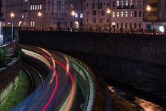Photo-Night-Walk in Vienna / Metro Light Trails (philipp.alexander.ernst) Tags: austria vienna ubahn metro lighttrails night wienfluss kettenbrckengasse pilgramgasse u4 light