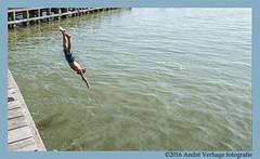hammer to fall (jada photography) Tags: diving duiken hoorn water sea harbour haven boy jongen markermeer