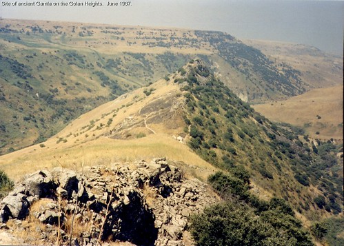 Site of ancient Gamla on the Golan Heights. (#3)