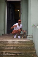 Portrait (Massimo Usai) Tags: 2016 august england europe london londonist nottinghill people summer dog man portrait house fuijfilm x100t