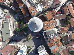 Galata-tower from the air (CyberMacs) Tags: air skyphotos phantom3 outdoor aerial istanbul turkey trkiye beyolu galata galatakulesi galatatower fort tower kule genova fortress