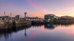 10 Minutes Before Sunrise (Rich Walker75) Tags: longexposure longexposures plymouth devon uk landscape landscapes water sky pink purple colour color colours colors architecture aquarium building buildings landmark landmarks travel tourism sunrise early cloud