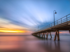 Glenelg Jetty (Jeffrey Guan) Tags: glenelg adelaide australia longexposure landscape seascape beach sunset jetty