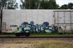 Link (quiet-silence) Tags: graffiti graff freight fr8 train railroad railcar art link sfb armn reefer unionpacific armn170072