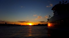 Just off the ferry (blondinrikard) Tags: ferry sunset solnedgng frja reflection water river gtariver gteborg gtalv stenpiren gothenburg beautiful awesome