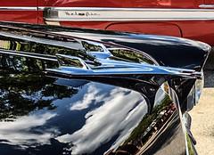 Neighboring Chevies (smfmi) Tags: chevrolet chevrolets belair cars automobile car automobiles hoodornament reflection frohm michigan cruisencarshow