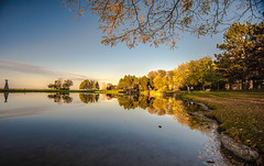 Reflections of an Autumn Sunset (SAFIRE PHOTO) Tags: ottawa water autumn colour color reflection trees river lake safire safirephoto sky landscape outdoor