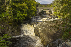 Invermoriston Falls (Kev Gregory (General)) Tags: invermoriston falls river moriston scottish highlands complete thomas telford bridge 1800s replacement built 1933 waterfall white water rocks green scenic scenery scotland kev gregory canon 7d holiday