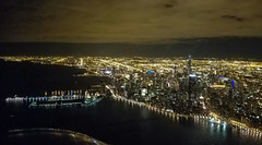 Night flying (brylek6) Tags: chicago night flight flying general aviation avgeeks lake shore michigan navy pier clouds