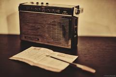 Radio (Marano Marco) Tags: marano maranomarco radio vintage radiovintage notizia news totocalcio schedina music musica sound nikon50mm 14 nikon14
