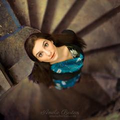 watch over you (Amlie B.) Tags: woman portrait stairs beautiful bruxelles brussels belgium belgique