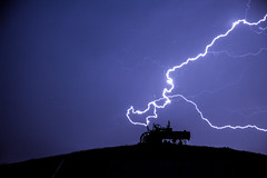 blue lightning (ty.burdick) Tags: lightning montana ranch farm tractor storm hill nature powerful