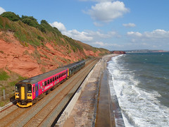 153325 & 150233 Dawlish (5) (Marky7890) Tags: 153325 class153 supersprinter gwr 150233 class150 sprinter 2u20 dawlish railway station devon train