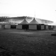 Amsterdam NDSM ADE (puliMexNed) Tags: amsterdam ndsmwerf ndsm ade blackandwhite bnw blackwhite bw streetphoto bicycle tent