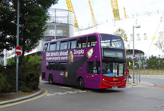 GAL E273 - SN62DLY - OSF - NORTH GREENWICH STATION - TUE 13TH SEPT 2016 (Bexleybus) Tags: go ahead goahead london north greenwich station bus zoopla all over advert adl dennis enviro 400 e273 sn62sdly tfl route 129