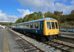 Class 119 w51073 at Wirksworth (Langley Mill Derbyshire) Tags: derbyshire wirksworth ecclesbourne valley railway train diesel dmu railroad railcar track station england goucester rcw midland platform multiple unit