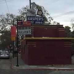 Former hot dog stand (bobmendo) Tags: shut closed frankfurter kasper