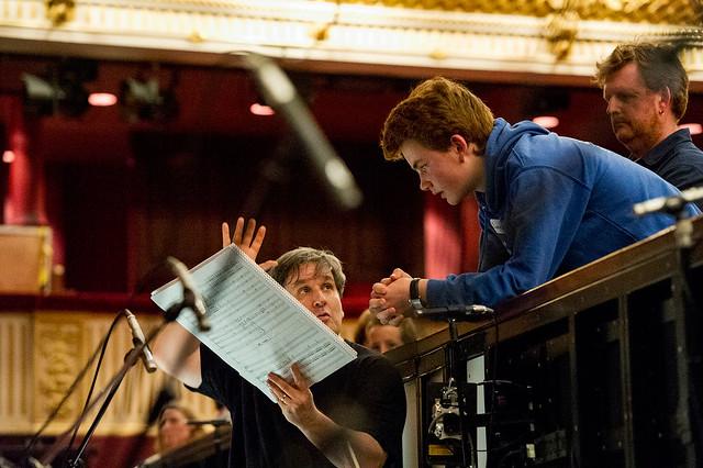 Fanfare winner Daniel Harding with Antonio Pappano © ROH / Sim Canetty-Clarke