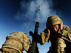 Mortar Troop from 40 Commando RM conduct live fire attacks during exercises (Royal Navy Media Archive) Tags: desert middleeast hampshire jordan portsmouth royalmarines 40commando frontlineoperations royalmarineunit royalmarineexercise mortartroop laphotwillhaigh excougar14 exjebeldagger