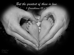 A Mother's Love (Glenda Hall) Tags: summer blackandwhite baby inspiration love feet monochrome canon mono hands heart god fingers gimp august christian rings newborn photoediting bible desaturated dslr inspirational imagemanipulation scripture 45mm edit glenda heartshape tinyfeet newbaby desaturate 2014 corinthians godly 1corinthians13 bibleverse babyportrait biblescripture alphachannel 60d canon60d babyphotoshoot twoweekold glendahall greatestoftheseislove