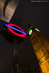 Underground (Rob Grainger) Tags: light london clock robert westminster sign architecture night buildings underground photography big twilight ben tube trails rob grainger
