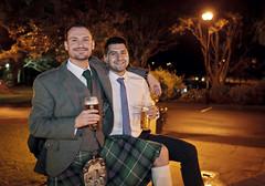 Good Times (-The Wickerman-) Tags: wedding beer night canon kilt jay good 5d times ayr graham dougie wickerman scotiish