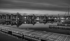 Scandinavian Town (Roberto Braam) Tags: city houses sky urban bw haven holland reflection tower art water monochrome dutch architecture night clouds buildings landscape harbor town photo blackwhite nikon scenery europa europe european cityscape view image zwartwit nacht harbour yacht thenetherlands wolken scene le nordic groningen lucht capture scandinavian architectuur reitdiep landschap houten bassin reflectie woningen jachthaven stadsgezicht opname d300s reitdiephaven robertobraam