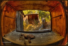 Oldschool Shadowbox..... (LoneWolfMontana) Tags: abandoned home nature canon was town montana rooms ghost neglected granite once hdr philipsburg photomatix