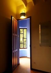 Park Gell (Mariasme) Tags: barcelona door blue window yellow gaudi framing parkgell friendlychallenges