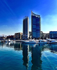 zaytouna bay downtown beirut lebanon (zbechara) Tags: city morning blue homes sky lebanon house tourism beach beauty buildings hotel bay boat amazing downtown towers sunny clear stunning beirut bestfriend lebanese dailyphoto reflaction iphone followme fourseasonhotel bestphotography iphoneography mygearandme zaytounabay tagsforlikes byblos،sea iphone6plus