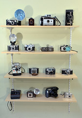 camera collection (Mycophagia) Tags: canon vintage polaroid kodak antique collection cameras brownie fujifilm keystone argus spartus eastmankodak univex bilora detrola