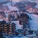 Ski resort in the evening light Hakuba Japan #Winter #Japan #Snow