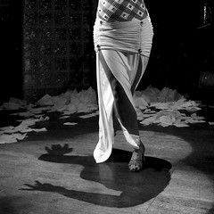 (heatherbirdtx) Tags: shadow blackandwhite woman texture composition contrast dance hands floor arms legs availablelight stage performance dancer spotlight napkins greenfilter