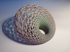 Dupin Cyclide 3D printed (fdecomite) Tags: color circle print 3d model math torus inversion mathematical dupin cyclide villarceau shapeways yvonvillarceau