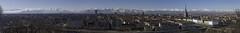 Turin in panorama. (Giuseppe Pipia) Tags: urban panorama alps canon river landscape torino fiume piemonte po urbano mole turin alpi paesaggio antonelliana 70d