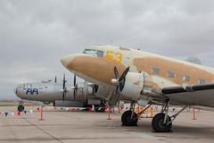 C-47 and B-29 (raptoralex) Tags: arizona plane worldwarii boeing fifi mesa warbird b29 superfortress b29a b29superfortress phoenixmesagatewayairport boeingb29a60bnsuperfortress
